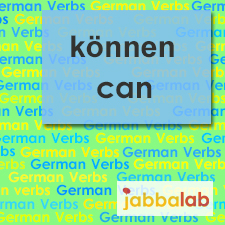 The German verb können - to be able to/can