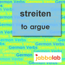 The German verb streiten - to argue