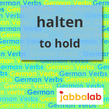 The German Verb halten - to hold