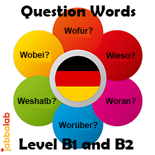 German Question Words - Level B1 and B2