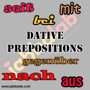 Dative-Prepositions