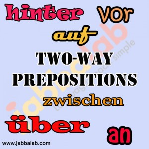 German Two-Way Prepositions