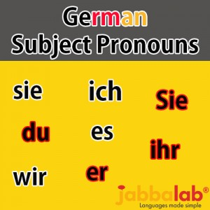 German Subject Pronouns with Video